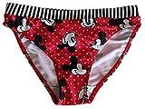Mickey Mouse Braguitas de Bikini, bañadores, bañadores, Rojo y Blanco, Punteado con Lazo para niños, niños y niñas (128)