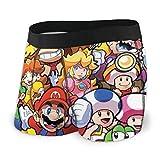 The Legend of Zelda Superhero Super Mario Smash Bros - Ropa interior elástica para hombre - Calzoncillos cortos para pierna corta y transpirable