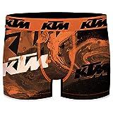 KTM T688-1 Talla: M-Boxer unitario Microfibra (92% poliéster-8% Elastano) -con los Colores característicos de la Marca Hombre