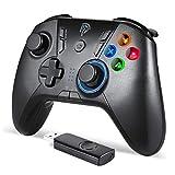 EasySMX Mandos Inalámbricos, [Regalos] 2.4G Mandos PS3 Batería, Gamepad con 5 Velocidades para Adjustar LED, Vibración Dual, Turbo y 4 Botones Programables para PS3/ Andriod Móvil/PC/Tablet/TV/TV Box