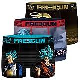 FREEGUN Calzoncillo Ropa Interior Chico Microfibra Dragon Ball Super (Juego de 3)