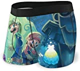 Super Smash Bros Mario Forest - Calzoncillos elásticos para hombre, de pierna corta, transpirable, cómodo, paquete de fibra