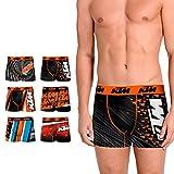KTM Set de 6 Boxers KTM-microfibra-92% poliéster 8% Elastano Boxer, Mixture, M para Hombre