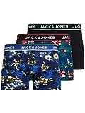 JACK & JONES Boxershorts Bóxer, Detalle: Cereza Bardaboes-Azul Marino Negro, L para Hombre
