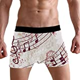 Jessgirl Nota Musical Abierta Pantalones Suaves Calzoncillos Boxer Ropa Interior Sexy para Hombre S