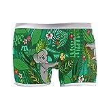 PUXUQU Calzoncillos tipo bóxer para mujer, lindos koalas hojas, flores, australiano, calzoncillos, bragas, ropa interior para mujer y niña