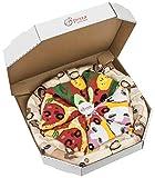 Rainbow Socks - Pizza Pepperoni Mujer Hombre - 4 pares de Calcetines - Tamaño 41-46