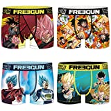 Freegun Dragon Ball Super - Juego de 4 bóxers para niño (microfibra) 06b 6-8 Años