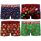Crazy Boxer PK1778-L Talla L: Set Boxer 4-microfibra-92% poliéster 8% Elastano, Pack 4pcs PK1778, Hombre