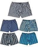 Pack de 8 calzoncillos tipo bóxer para hombre, talla grande Multicolor 3 XXXXXL