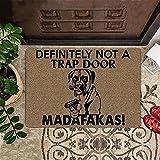 TIANTURNM Felpudos Entrada casa Boxer Madafakas Definitivamente no es una Trampa Felpudo para Puerta Alfombrilla para Perro Gracioso Alfombra de Bienvenida Hogar Regalos 20'x32'