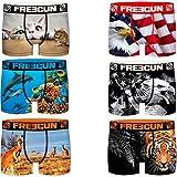 Freegun PK2125-S Calzoncillos Boxer Sorpresa colección Animal Print, Pack de 6 PK2125, S para Hombre